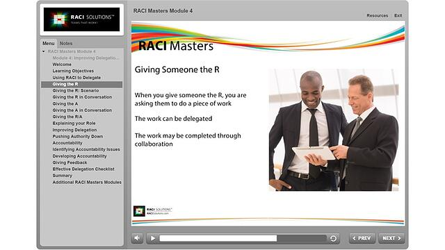 RACI Masters Giving Someone the R